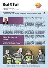 Rat & Tat - Klienten-Info / Ausgabe 3/2017