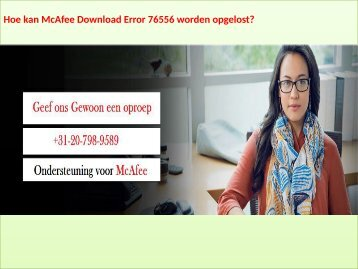 McAfee ondersteuning Nederland +31-20-798-9589