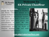 Private Chauffeur Service in Frederick,MD