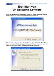 Erst-Start von VR-NetWorld Software