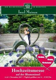 Mainau-Messemagazin zur Hochzeitsmesse 2017