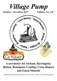 Berrington Village Pump Edition 132 (Oct - Nov 2017) Final Copy Updated