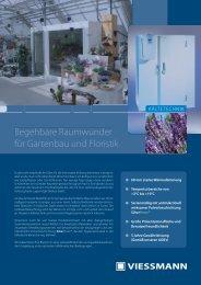 Pdf Floristenkühlzelle Viessmann - Kältetechnik Rauschenbach GmbH