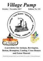 Berrington Village Pump Edition 132 (Oct - Nov 2017)