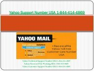 Yahoo Support Number USA 1877-503-0107