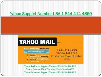 Yahoo Support Number USA 1 (877) 336 9533