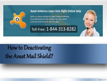 How to Deactivating the Avast Mail Shield