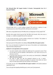 Microsoft Office 365 Customer Care Number