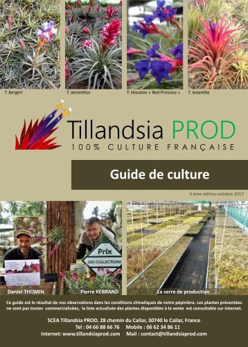 GUIDE DE CULTURE TILLANDSIA PROD 2017