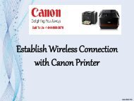 Establish Wireless Connection with Canon Printer.