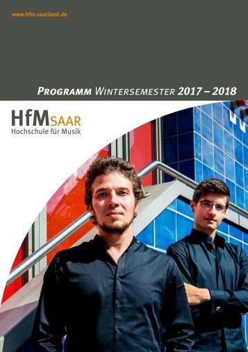 HfM-Programmheft WiSe 2017/18