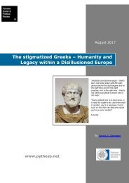 The stigmatized Greeks – Humanity and Legacy within a Disillusioned Europe
