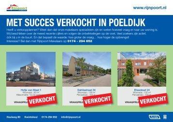 Met succes verkocht in Poeldijk, door Rijnpoort Makelaars