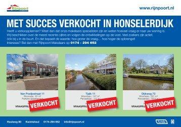 Met succes verkocht in Honselersdijk, door Rijnpoort Makelaars