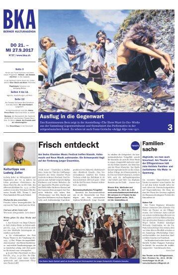 Berner Kulturagenda 2017 N° 37