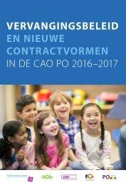 2017-08-31 Vervangingsbeleid nieuwe contractvormen CAO PO 2016-2017