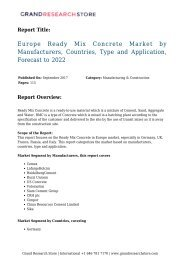 europe-ready-mix-concrete-market-by-manufacturers-countries-type-and-application-forecast-to-2022-grandresearchstore