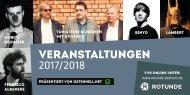 Veranstaltungen ROTUNDE Bochum 2017/18