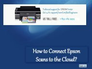 How to Connect Epson Scans to the Cloud?