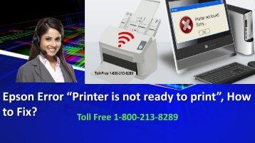"Epson Error ""Printer is not ready to print"", How to Fix"