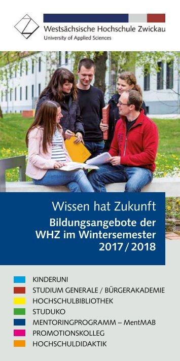 Wissen hat Zukunft Wintersemester 2017/18