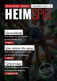 HEIMSPIEL | Saisonheft 2017 / 18