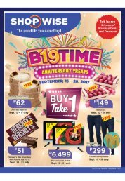 SHOPWISE GROCERY CATALOG ends September 28, 2017
