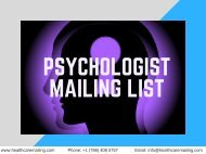 Psychologists Mailing List