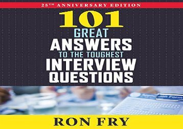 101-Great-Answers-to-the-Toughest-Interview-Questions