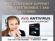 AVG Customer Support Toll-free Number 1-888-827-9060