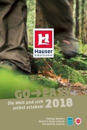 Go Easy 2018 - Reisekatalog von Hauser-Exkursionen