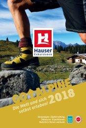 Go Alpine 2018 - Reisekatalog von Hauser Exkursionen