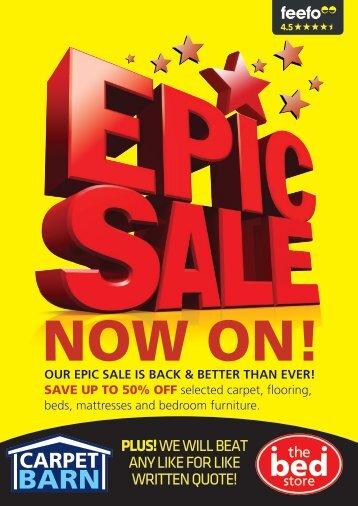 Carpet Barn Epic online brochure flip book