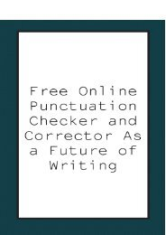 Free Online Punctuation Checker and Corrector As a Future of Writing