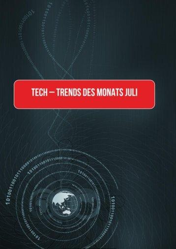 Die Tech-Trends des Monats Juli