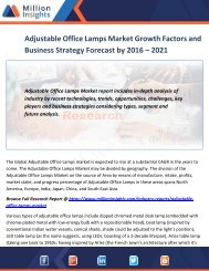 Adjustable Office Lamps Market Growth Factors and Business Strategy Forecast by 2016 – 2021