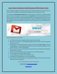Learn How To Recover Gmail Password With Expert Team