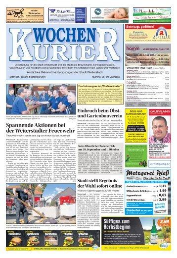 Wochen-Kurier 38/2017 - Lokalzeitung für Weiterstadt und Büttelborn