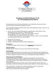 Branding für Digitaldruck ESTA Kühltonne CC 77