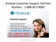 Outlook Customer Support Toll-free Number - 1-888-827-9060