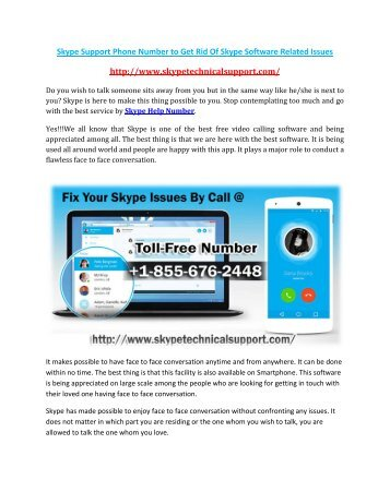 Skype Support Number +1-855-676-2448