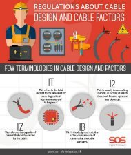 Regulations about cable design and factors