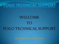 Pogo Technical Support