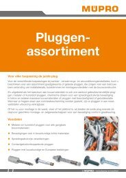 MÜPRO Pluggenassortiment NL BE