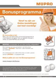 MÜPRO Bonusprogramma BE