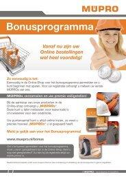 MÜPRO Bonusprogramma NL