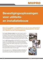MÜPRO Bevestigingsoplossingen voor utiliteits -en installatiebouw NL BE