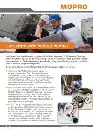 MÜPRO - Uw vertroude project partner NL BE