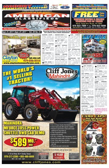 American Classifieds Sept. 21st Edition Bryan/College Station
