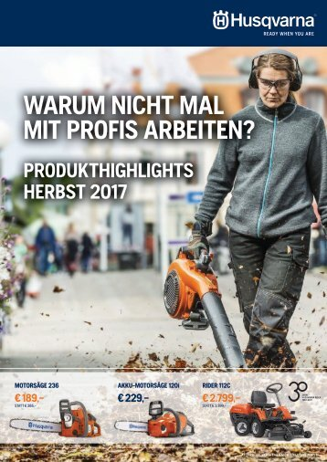 HUSQVARNA Herbstaktion 2017